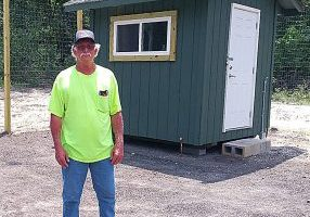 BUDDY BARLOW is one of the attendants who works at the Bunn Lane dumpster site.