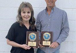 MILLION MILE CLUB inductees Jane Harrison and Terry Harrison.
