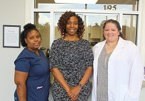 WEAVER MEDICAL CENTER staff, l-r, includes certified medical assistant Renee Dyson, C.E.O. Dr. Mary Weaver, and nurse practitioner Joanne Hembree.
