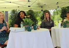 THE FEATURED PANEL at Tuesday's luncheon included, l-r, Donica Douglas Williams, Maria Vasquez, Alyssa Blakley and Charlotte Godwin.